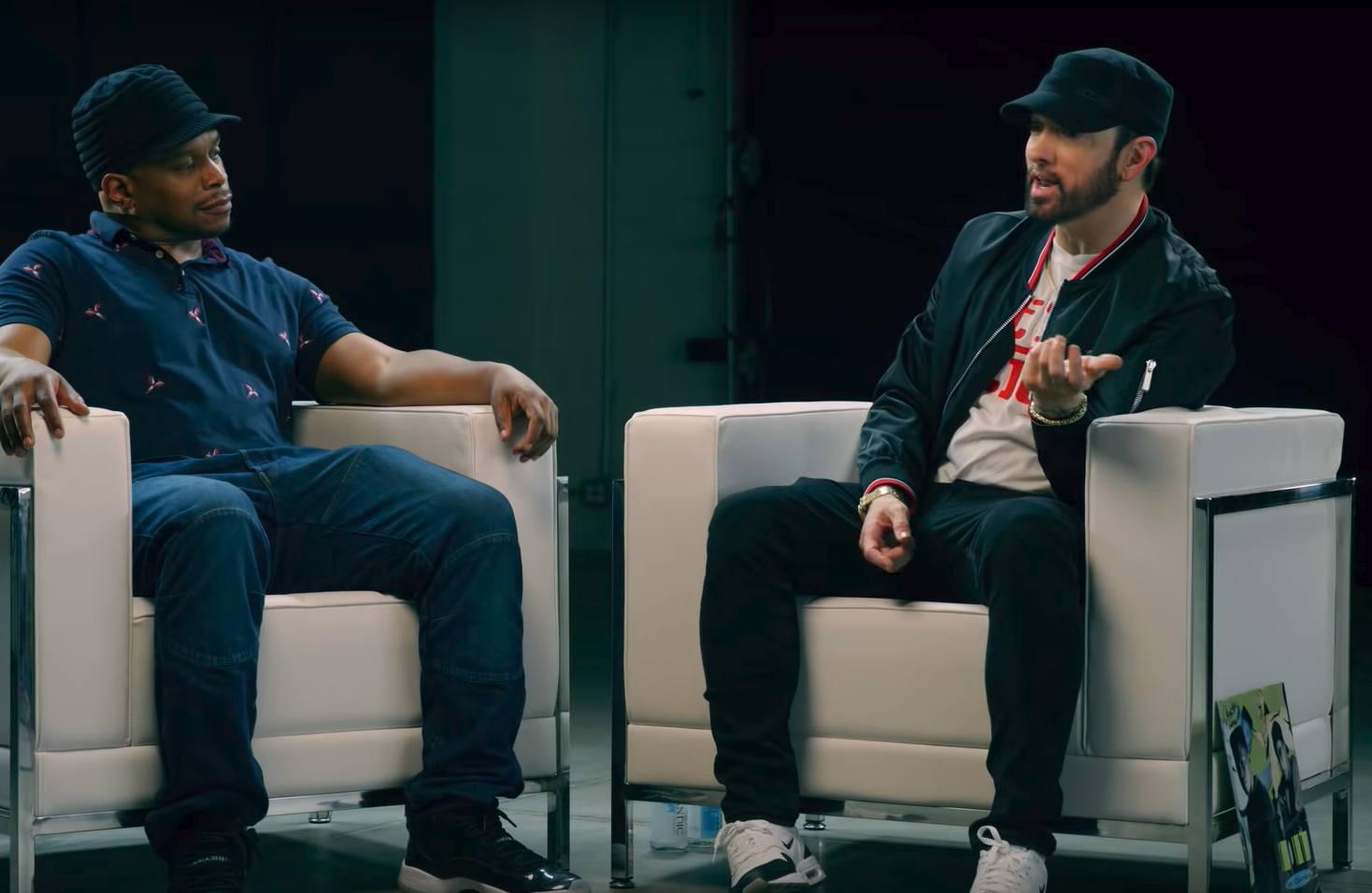 Перевод и русская озвучка первых двух частей интервью Эминема об альбоме «Kamikaze»