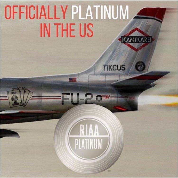 Альбом Эминема «Kamikaze» официально зарабатывает платиновый статус в США