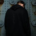 Eminem LIMITED EDITION KAMIKAZE BLACK ON BLACK EMBROIDERED HOODIE