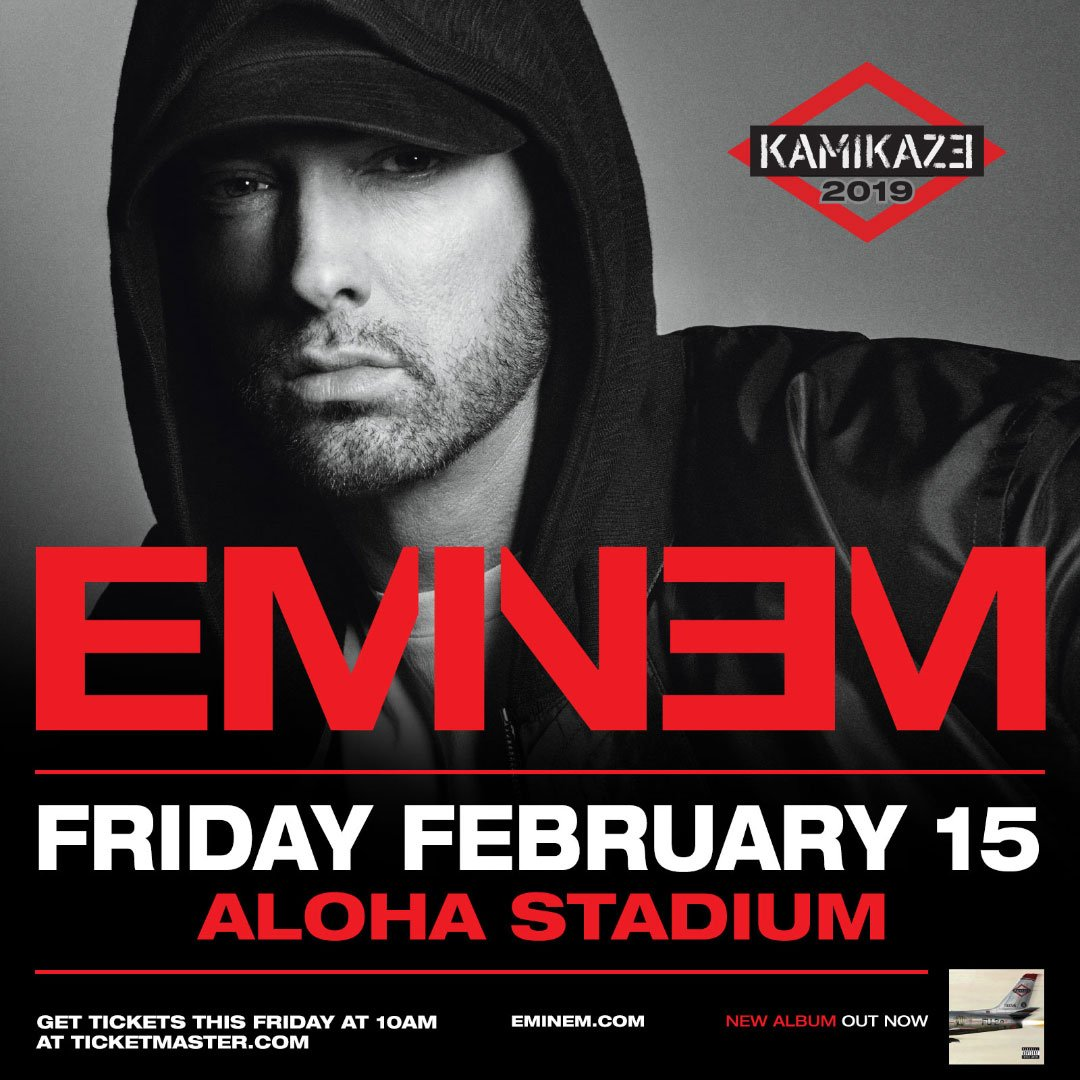 Eminem «зажжёт» на Гавайях! Единственный концерт в феврале 2019-го