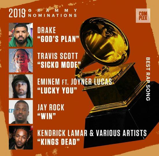 Эма номинировали лишь в одной категории - Лучшая рэп-песня (Best Rap Song) с треком «Lucky You»