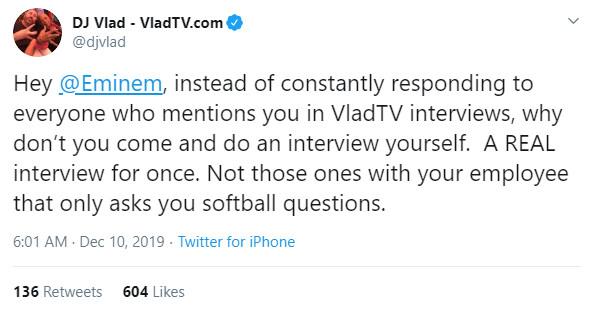 VladTV предлагает Эминему дать им