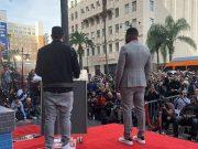 Eminem выступил с речью на церемонии открытия звезды 50 Cent на «Аллее Славы» в Голливуде