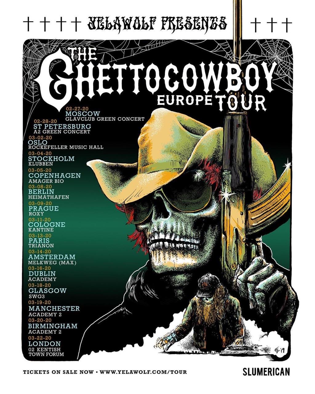 Yelawolf возвращается в Россию с двумя концертами в Москве и Санкт-Петербурге!