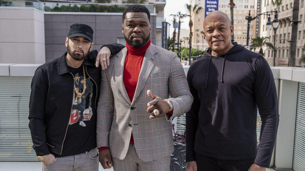 Эминем, 50 Cent и Dr. Dre на Аллее славы в Голливуде
