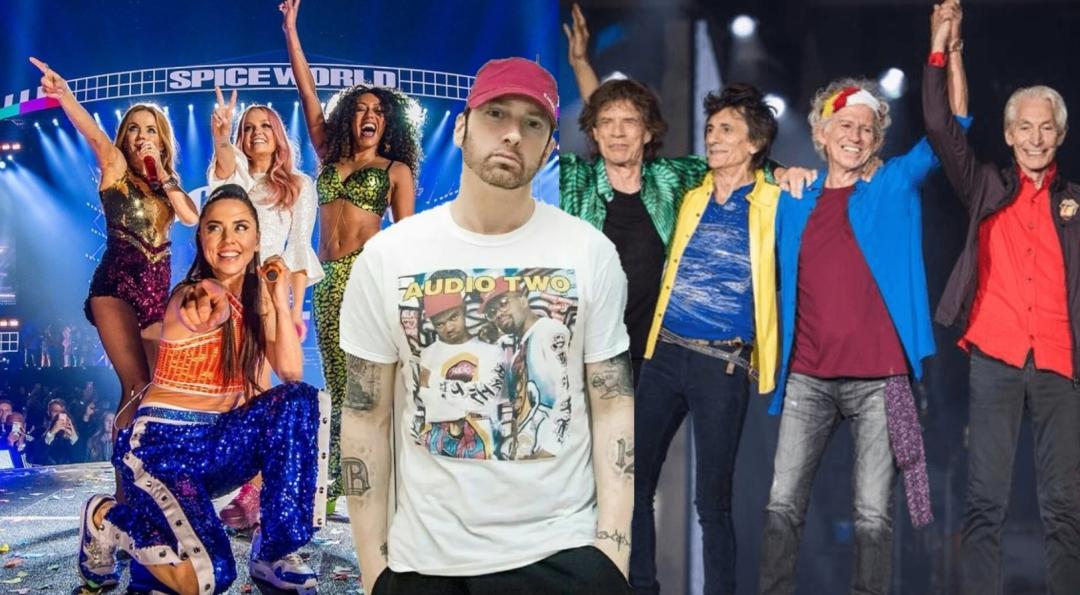 Spice Girls, Эминем и Rolling Stones